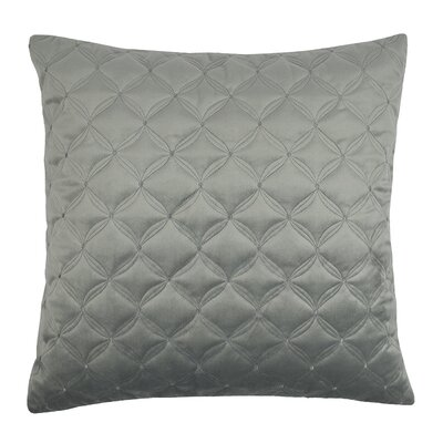 Embroidered Diamond Velvet Throw Pillow Color: Silver Gray
