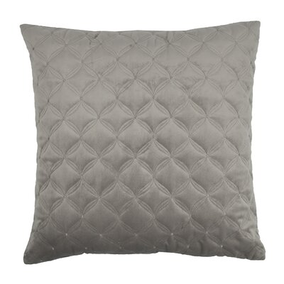Embroidered Diamond Velvet Throw Pillow Color: Taupe Gray