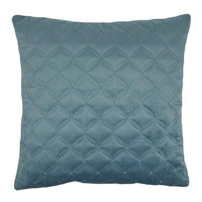 Embroidered Diamond Velvet Throw Pillow Color: Atlantic Blue