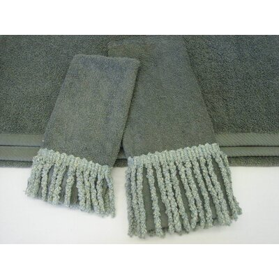 Curly Bullion Decorative 3 Piece Towel Set