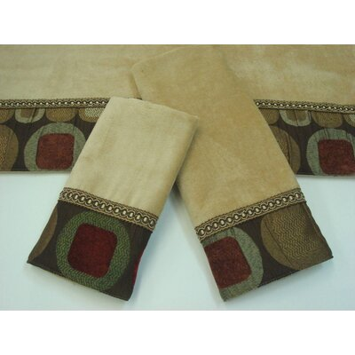 Metro Decorative 3 Piece Towel Set Color: Metro Spice Wheat