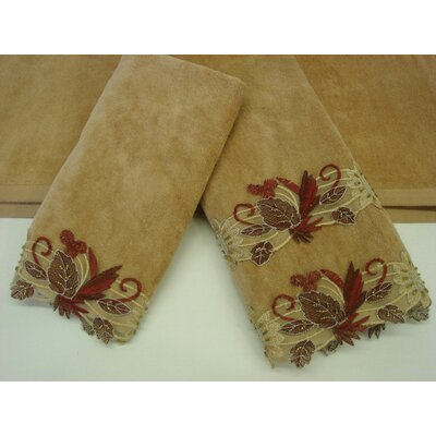 Sherry Kline Romantica Sage Gold 3-Piece Decorative Towel Set - Color: Gold at Sears.com