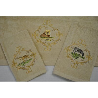 Jungle Safari Decorative 3 Piece Towel Set