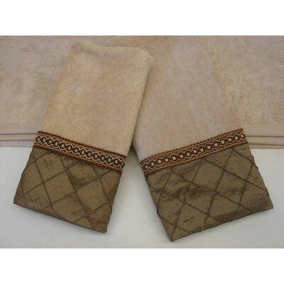 Pleated Diamond Decorative 3 Piece Towel Set