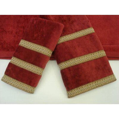 Triple Row Decorative 3 Piece Towel Set Color: Gimp