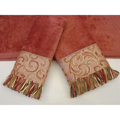 Swirl Paisley Decorative 3 Piece Towel Set