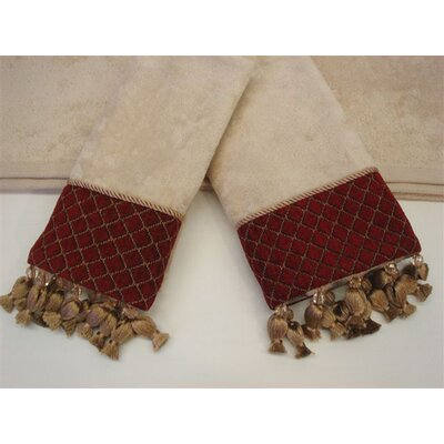 Antoinette Wheat Decorative 3 Piece Towel Set