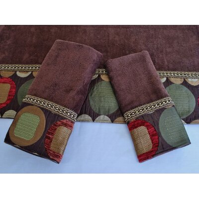 Metro Decorative 3 Piece Towel Set Color: Metro Spice Brown