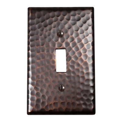 Hammered Copper Single Switch Plate Finish: Antique Copper