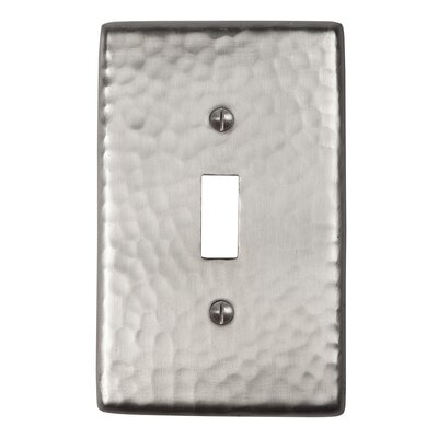 Hammered Copper Single Switch Plate Finish: Satin Nickel