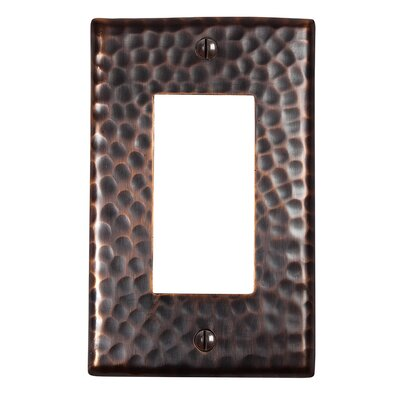 Hammered Copper Single GFCI Plate Finish: Antique Copper