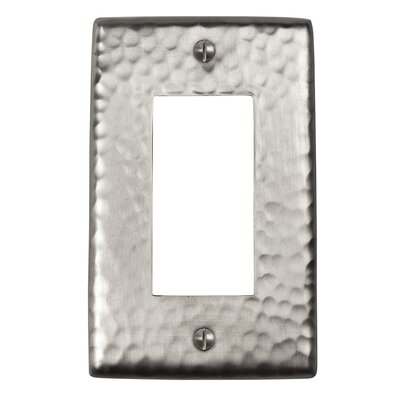 Hammered Copper Single GFCI Plate Finish: Satin Nickel