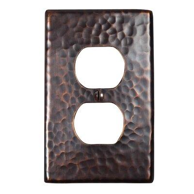 Hammered Copper Single Duplex Receptacle Plate Finish: Antique Copper