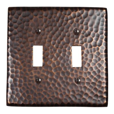 Hammered Copper Double Switch Plate Finish: Antique Copper