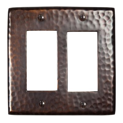 Hammered Copper Double GFCI Plate Finish: Antique Copper