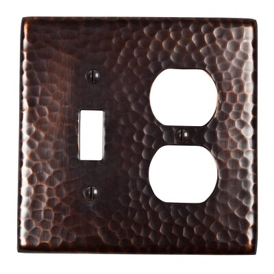 Hammered Copper Single Switch and Duplex Receptacle Combination Plate Finish: Antique Copper
