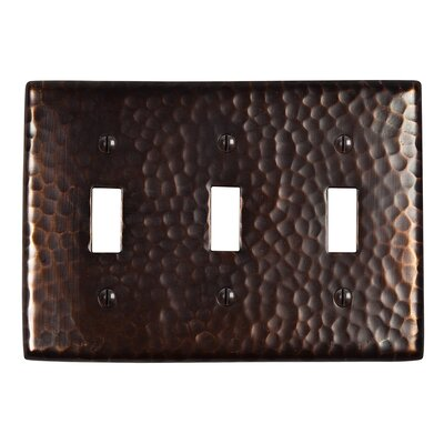 Hammered Copper Triple Switch Plate Finish: Antique Copper