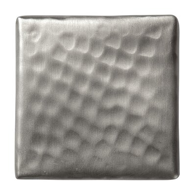 Solid Hammered Copper 2 x 2 Decorative Accent Tile in Satin Nickel