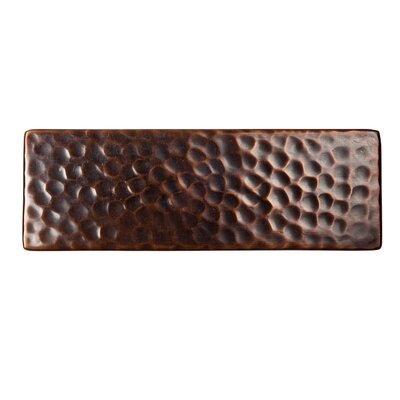 Solid Hammered Copper 6 x 2 Decorative Accent Tile in Antique Copper