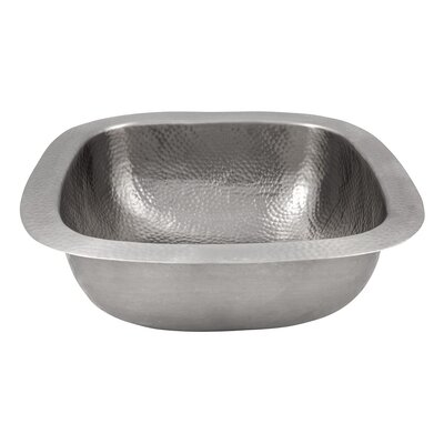 18 x 18 Hand Hammered Extra Large Square Bar Sink Finish: Satin Nickel