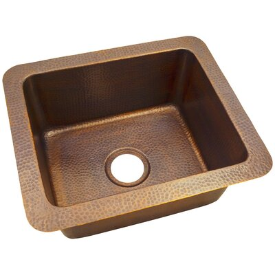 18 x 12 Solid Hand Hammered Single Bowl Drop-In/Undermount Kitchen Sink