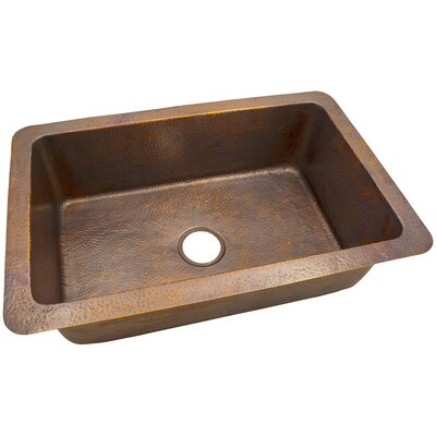 32 x 21 Solid Hand Hammered Large Single Bowl Drop-In /Undermount Kitchen Sink