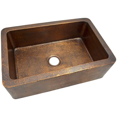 32 x  21 Solid Hand Hammered Large Single Bowl Farmhouse Kitchen Sink