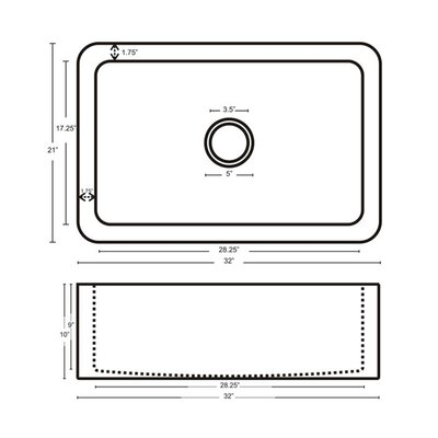 Star Design 21 x 18 Apron Kitchen Sink