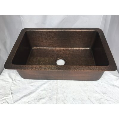 Hand Hammered 32 x 21 Drop-In Kitchen Sink