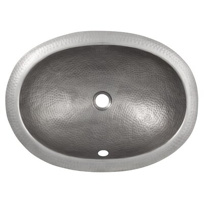 Metal Oval Drop-In Bathroom Sink with Overflow Sink Finish: Satin Nickel