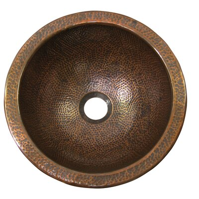Small Circular Undermount Bathroom Sink with Overflow Sink Finish: Antique Copper