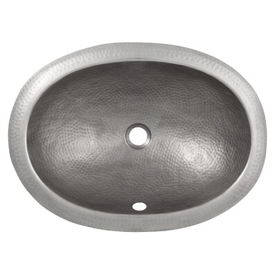 Metal Oval Undermount Bathroom Sink with Overflow Sink Finish: Satin Nickel