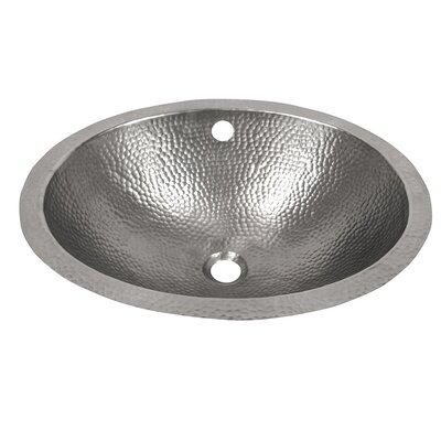 Oval Undermount Bathroom Sink with Overflow Sink Finish: Satin Nickel