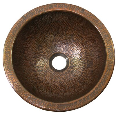 Medium Circular Undermount Bathroom Sink with Overflow Sink Finish: Antique Copper