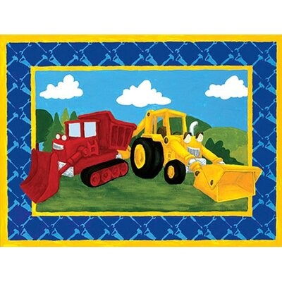 Building Trucks Wall Art Picture Type: Contemporary Mount with Beveled Edge