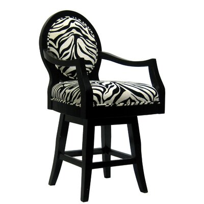 Financing for Black Frame Zebra Barstool (Short)...