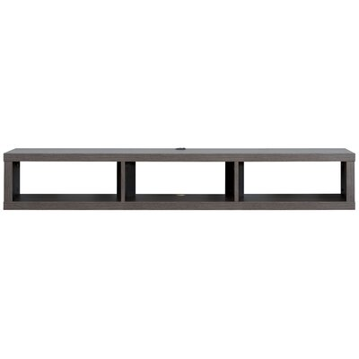 60 Shallow Wall Mounted TV Component Shelf