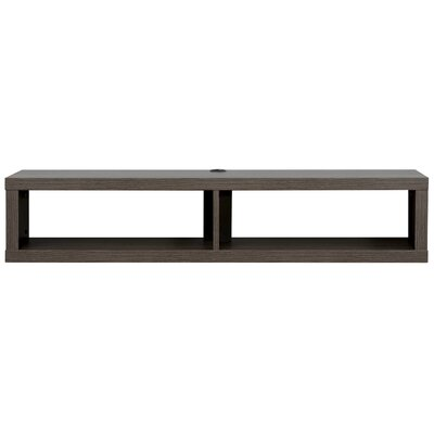 48 Shallow Wall Mounted TV Component Shelf