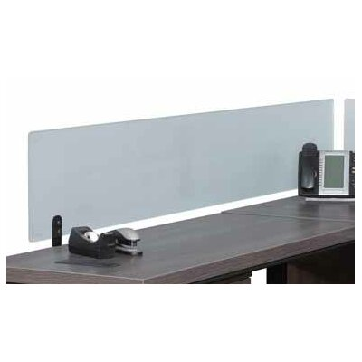 Desmond Glass Divider Desk Privacy Panel