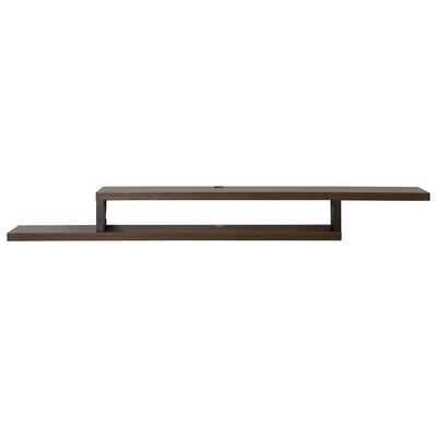 Ascend 72 Asymmetrical Wall Mounted TV Component Shelf Finish: Skyline Walnut
