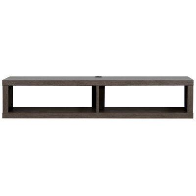 48 Shallow Wall Mounted TV Component Shelf Finish: Skyline Walnut
