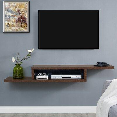 Ascend 60 Asymmetrical Wall Mounted TV Component Shelf Finish: Skyline Walnut
