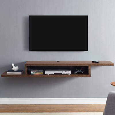 Ascend 72 Asymmetrical Wall Mounted TV Component Shelf Finish: Columbian Walnut