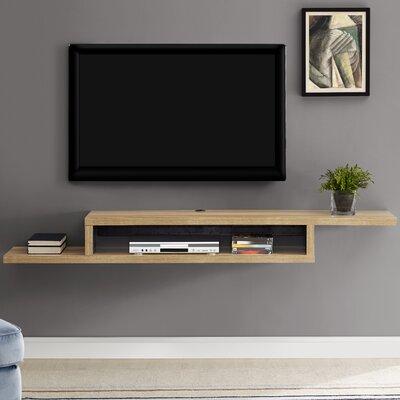 Ascend 72 Asymmetrical Wall Mounted TV Component Shelf Finish: Burka Bark