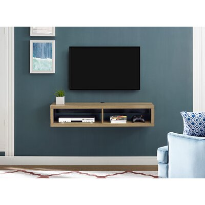 48 Shallow Wall Mounted TV Component Shelf Finish: Burka Bark