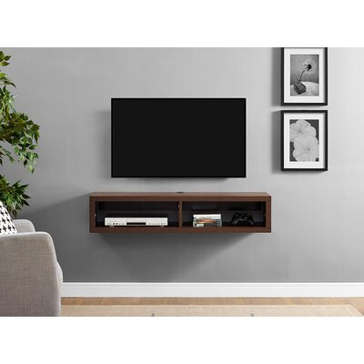48 Shallow Wall Mounted TV Component Shelf Finish: Columbian Walnut