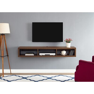 60 Shallow Wall Mounted TV Component Shelf Finish: Columbian Walnut