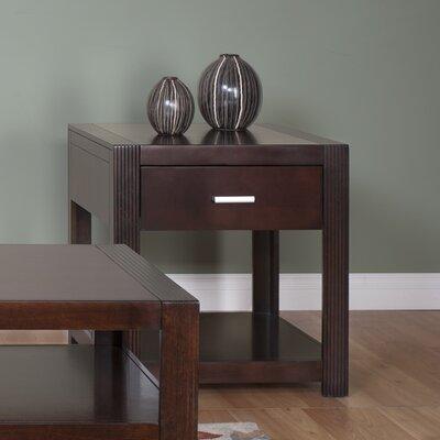 Cheap Martin Home Furnishings Carlton Entertainment End Table in Clear Bourbon (MXF1260)