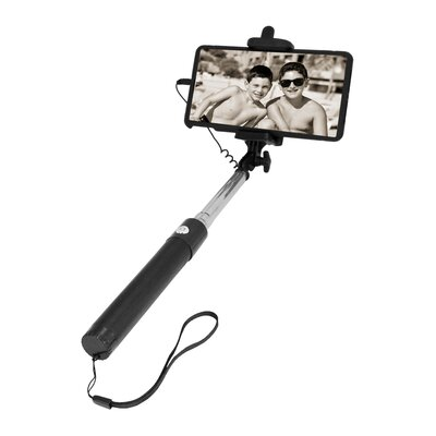 Selfie Stick with Shutter Button Holder