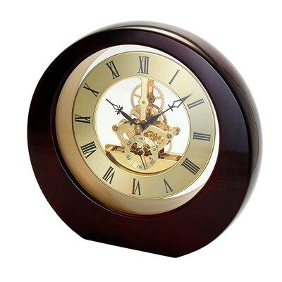 Interactive Gear Table Clock Color: Mahogany